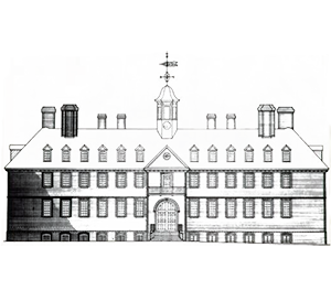 East Elevation of Wren Building, College of William & Mary, by Singleton P. Moorehead, image # D2012-COPY-0802-2001