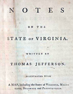 <em>Notes on the State of Virginia</em> (London, 1787)