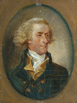 miniature portrait of Jefferson (1788) by John Trumbull