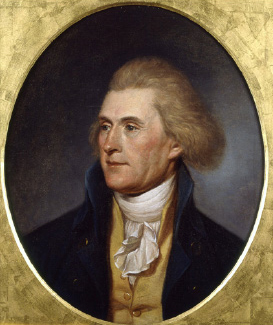 Thomas Jefferson by Charles Willson Peale, from life, 1791-1792