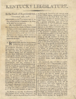Kentucky Resolutions 1798