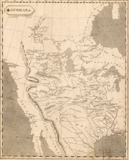 map of Louisiana from <em>A new and elegant general atlas. Comprising all the new discoveries, to the present time; containing sixty three maps, drawn by Arrowsmith and Lewis</em> (1804)