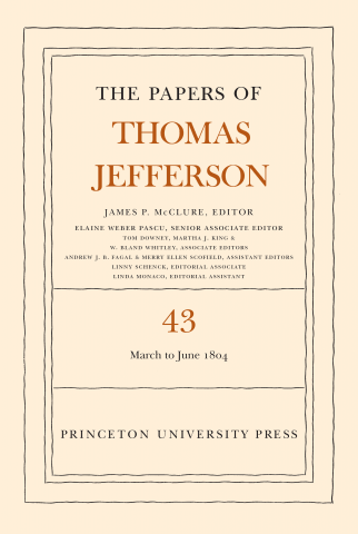 Volume 43 cover Papers of Thomas Jefferson