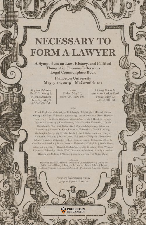 Necessary to Form a Lawyer symposium poster