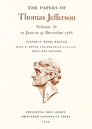 The Papers of Thomas Jefferson Volume 10