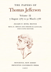 The Papers of Thomas Jefferson Volume 12