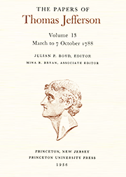 The Papers of Thomas Jefferson Volume 13