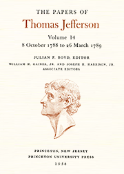The Papers of Thomas Jefferson Volume 14