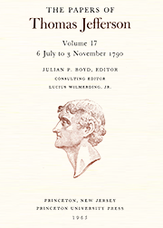 The Papers of Thomas Jefferson Volume 17