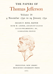 The Papers of Thomas Jefferson Volume 18