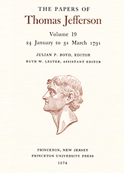 The Papers of Thomas Jefferson Volume 19