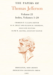 The Papers of Thomas Jefferson Volume 21