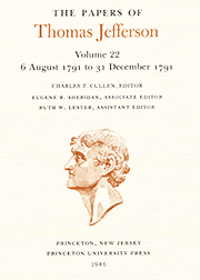 The Papers of Thomas Jefferson Volume 22