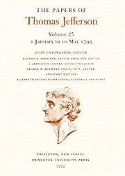 The Papers of Thomas Jefferson Volume 25