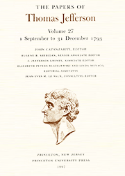The Papers of Thomas Jefferson Volume 27