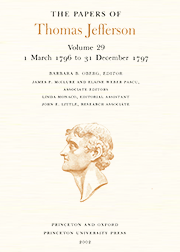 The Papers of Thomas Jefferson Volume 29