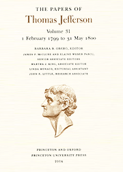The Papers of Thomas Jefferson Volume 31