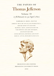 The Papers of Thomas Jefferson Volume 33