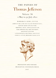 The Papers of Thomas Jefferson Volume 34