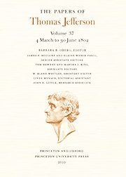 The Papers of Thomas Jefferson Volume 37