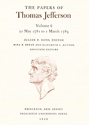 The Papers of Thomas Jefferson Volume 6