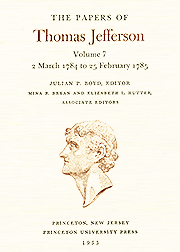 The Papers of Thomas Jefferson Volume 7