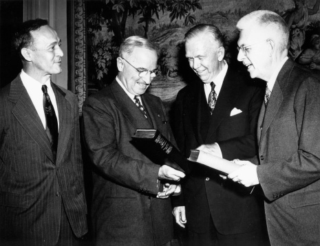 1950 presentation ceremony for Vol. 1 in Washington, D.C.